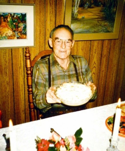 Dad with his lemon pie