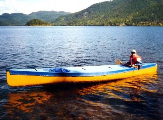 Kayaking in the boreal forest region