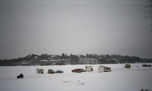 Ice fishing in Canada
