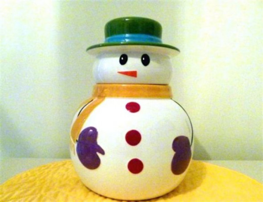 My Snowman Cookie Jar