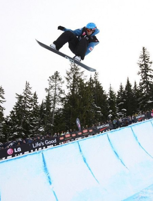 Justin Lamoureux of Squamish a strong contender of the half-pipe snowboard world.