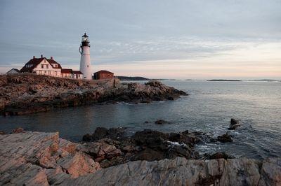 Portland Light's Rocky Coast