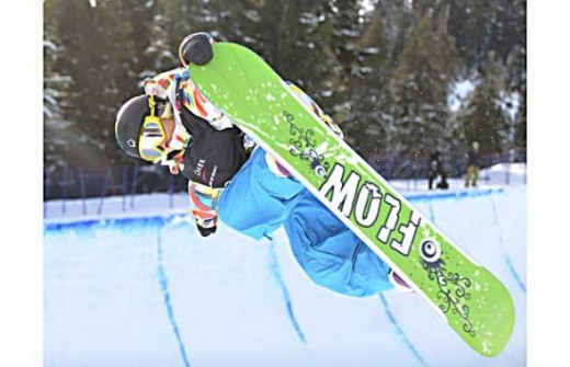 Mercedes Nicoll competes in Women's snowboard halfpipe - Vancouver Olypics 2010