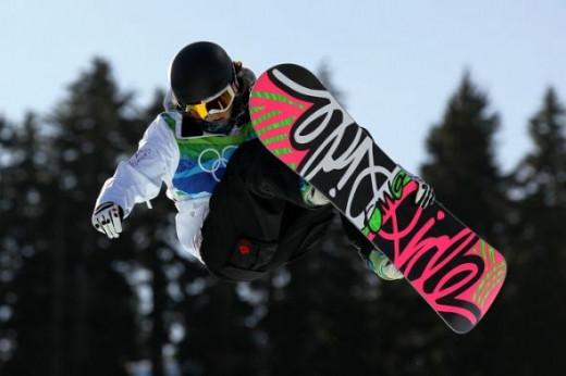 Sarah Conrad riding high - Vancouver Olympics 2010