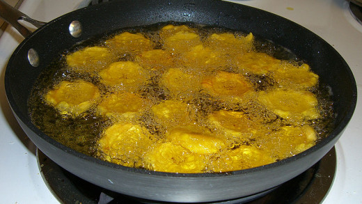 Frying Plantains
