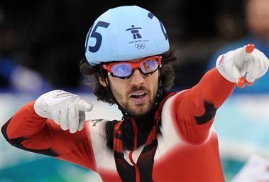 Men's Speedskating 500m Short-track Charles Hamelin of Canada wins Gold