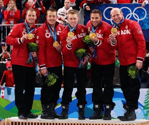 Team Canada Curling threw GOLD Marc Kennedy,John Morris, Kevin Martin,Ben Hebert, Adam Enright