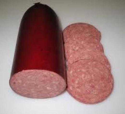 summer sausage, sausage, trail food, trail snack