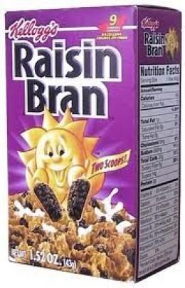 raisin bran, trail food, trail breakfast