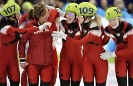 Tania Vincent, Kalyna Roberge, Marianne St. Gelais, Jessica Gregg - 3000m Relay Speed Skating.