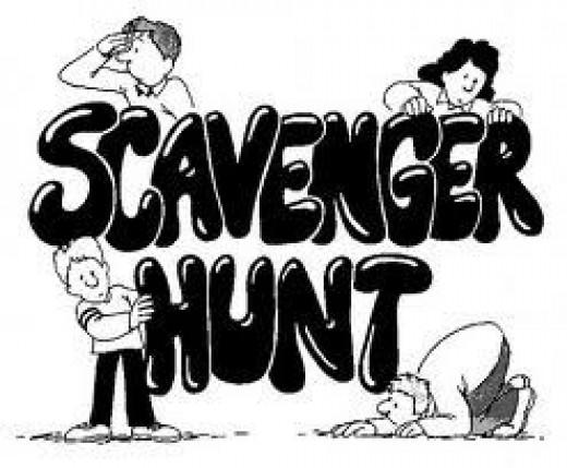 scavenger hunt, valentines day idea, valentines day date