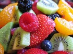 fruit salad, watermelon fruit salad, creamy fruit salad, healthy fruit salad, fruit salad with granola