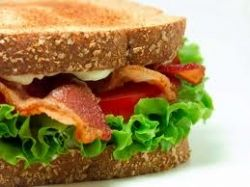 sandwich, bacon and tomato, peanut butter, peanut butter and jam, turkey, roast beef, ham