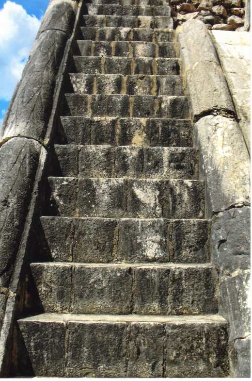 Stone Staircase to platform