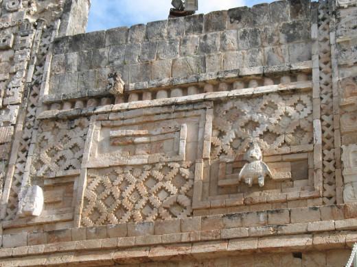 Beautiful carvings adorn the buildings