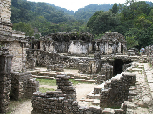 Inside the ruins of the palace