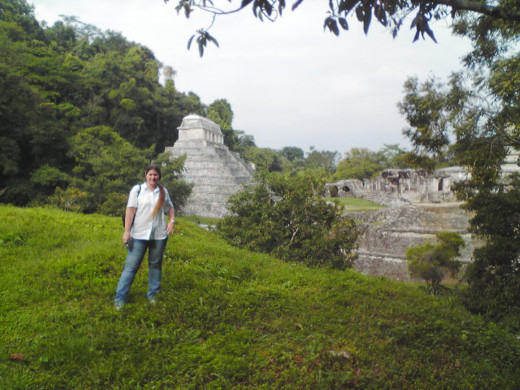 Me with the Pyramid of Inscriptions just behind me