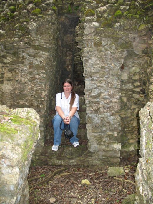 Taking a snack break in the ruins