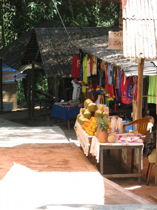 Snack stand at Agua Azul