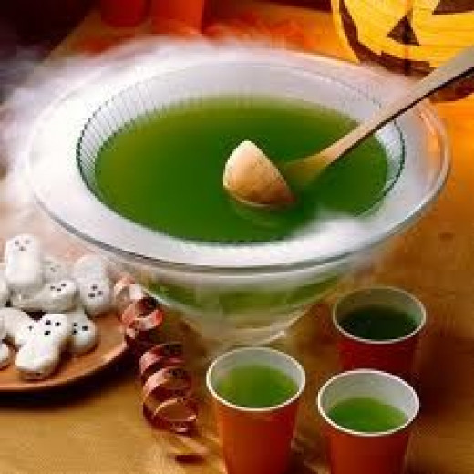 green punch, saint patricks day punch, saint paddys day punch