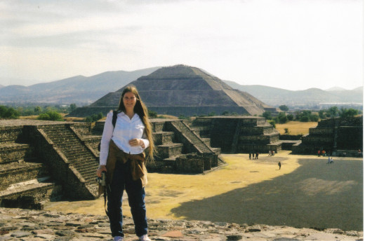 Me in 2005 by the pyramid of the moon