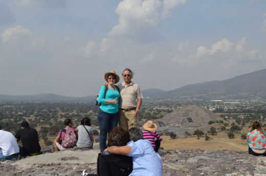 Me and Alejandro in 2014 on the top of the pyramid of the sun