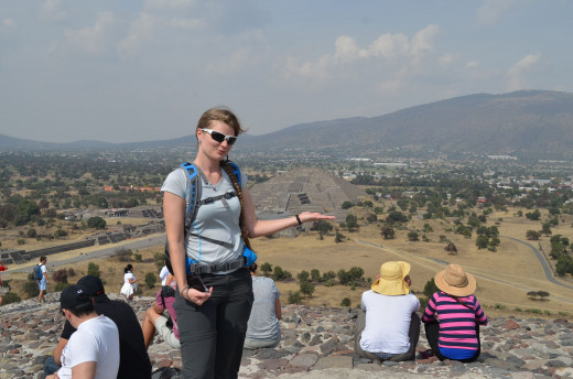 2014 Alesia at the top of the pyramid of the sun