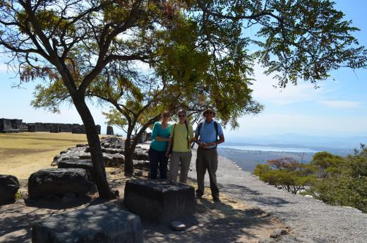 Me, Alesia and Alejandro at Xochicalco. 2014
