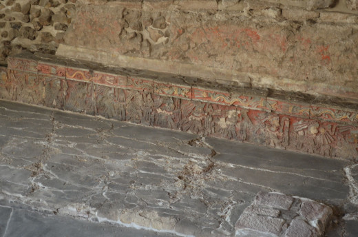 Carvings on interior walls 2014