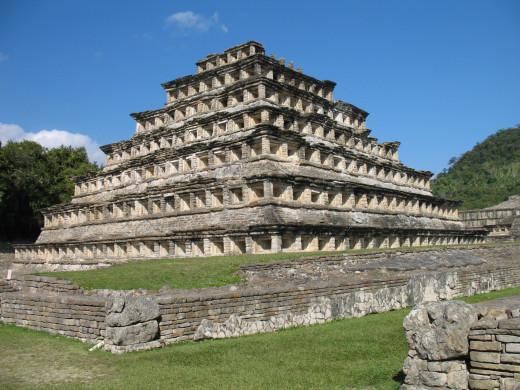 The pyramid of the niches at El Tajin