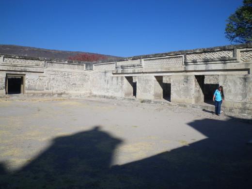 Me exploring the ruins of Mitla