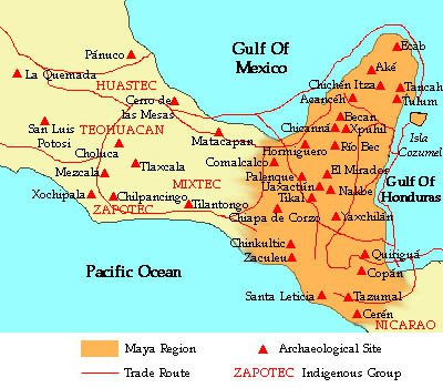 Map of ancient sites