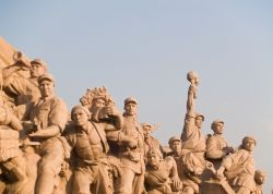 Chinese Workers Statue Beijing