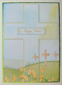 Printable religious Easter Card