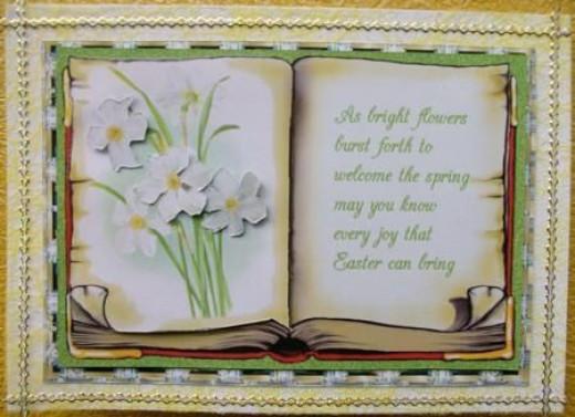 Printable Spring Flowers Card
