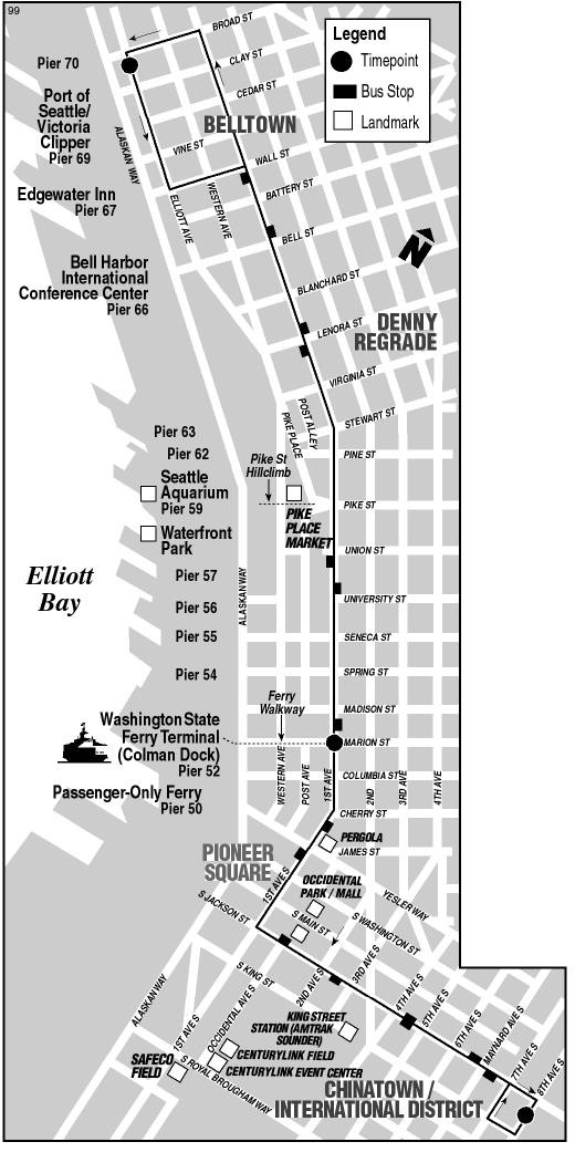 Remembering the seattle waterfront trolley for Time table bus 99