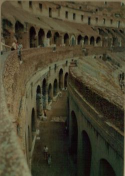 The lower levels of the colusseum
