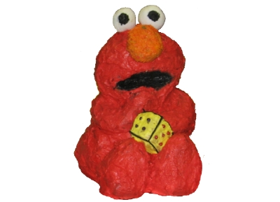 A 3D Elmo cake made by my daughter's teenage friend