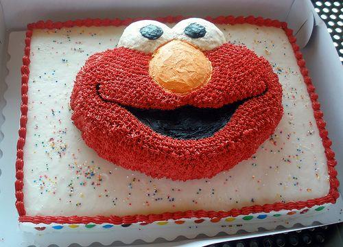 Elmo shaped cake