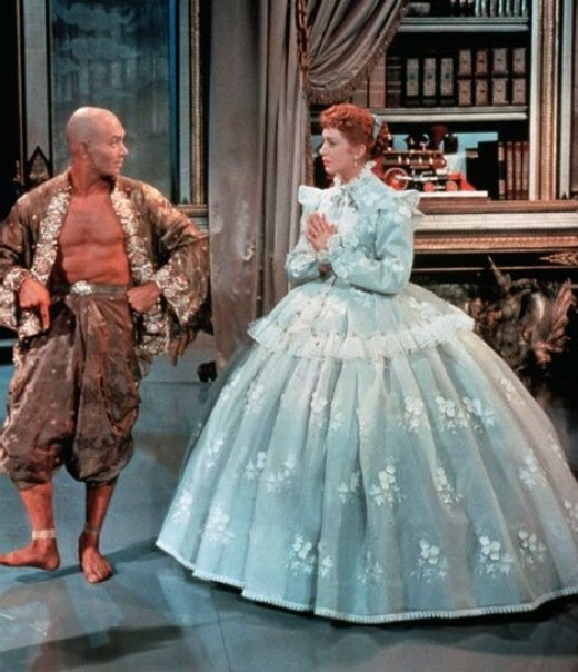 With Yul Brynner in The King and I