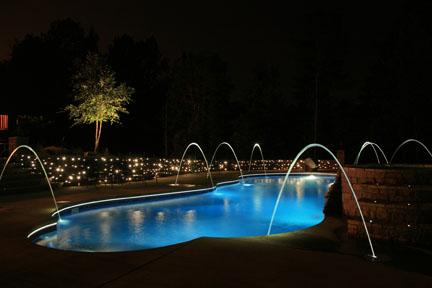 Fiber Optic swimming pool lighting: A pool dressed to kill by FiberStars