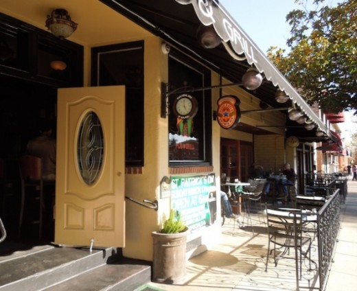 Pappy McGregor's Pub and Grill is another popular place for those who like eating outside. The inside is dark and more like well -- a pub. It used to be the Crooked Kilt, but recently reinvented itself.