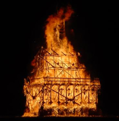 The Burning Man Festival Gets Its Name For Its Saturday Night Ritual.