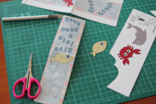 cut out the bookmark