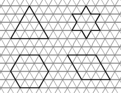 shapes on a triangle tessellated grid