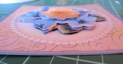 completed layers in a decoupage card