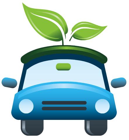 Free Earth Day clip art -- green car