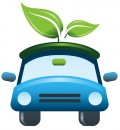 Free Earth Day clip art -- green car