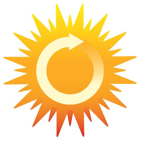 Earth Day clip art -- renewable sun power