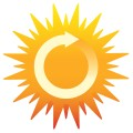 Earth Day clip art -- renewable sun power